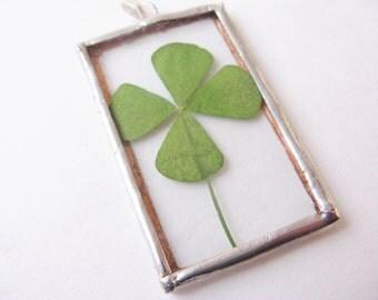 4 leaf clover pendant  - four leaf clover necklace - clover necklace - four leaf clover jewelry