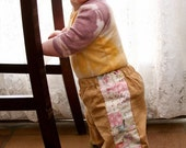 Pants For Baby Girls...Corduroy and Floral Patchwork...6 months, 12 months, 18 months, 2T, 3T, 4T