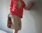 LINEN...Shorts for boys...custom My Favorite Things patchwork...Size 6 months, 12 months, 18 months, 24 months, 2T, 3T, 4T, 5, 6, 7, 8