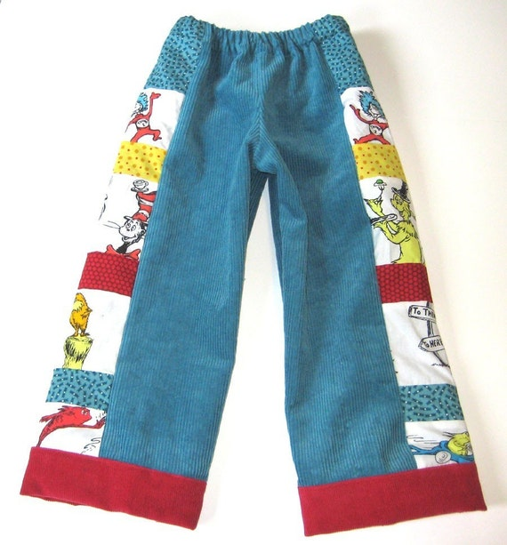 DR. SEUSS...Retro Pants for Boys...Size 6 mo. to Youth 8