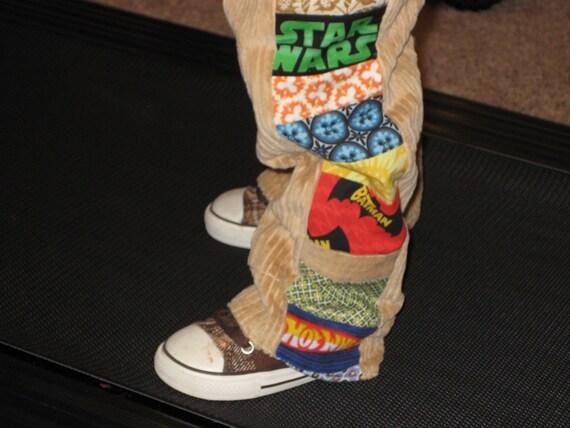CUSTOM... My Favorite Things Patchwork Pants for Boys