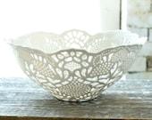 Hand-Carved Porcelain Lace Fruit Bowl