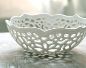Very Small Carved Lace Bowl