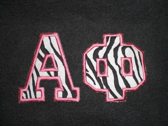Items similar to no sew applique greek letters on etsy for Sorority sewn on letters