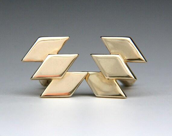 Vintage Hickok Cufflinks Diamond Shape Set