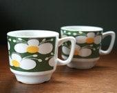 Nora vintage coffee cups, Stavangerflint