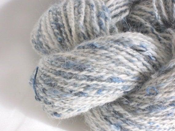 My Favorite Jeans - Handspun Yarn (Alpaca and Denim) - 130 yards - Worsted Weight