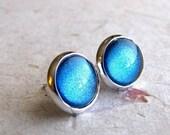 Blue Fairy 10mm Silver Post Earrings