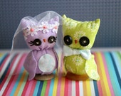 Custom Owl Wedding Cake Toppers RESERVED for Heather Shane
