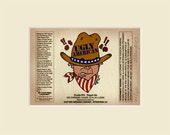 Limited Edition Print Ugly American beer label