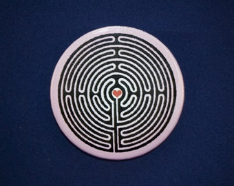 Labyrinth Heart Button