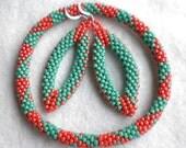 Geometry - Beaded Bracelet and Earring set