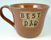 DAD Mug \/ Handmade Wheelthrown Stoneware Pottery