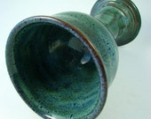 Blue Wine Goblet / Handmade Pottery / Wheel Thrown Stoneware Clay