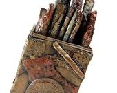 Ceramic Art Sculpture - Wagon of Dreams Sculpture - Award Winning Handmade Pottery Sculpture
