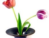 Ikebana Flower Vase / Handmade Pottery Wheel Thrown Pottery Stoneware