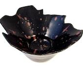 Ceramic Bowl or Ikebana Art Vase -  Candy Dish - Abstract Sculpture - Handmade Clay Pottery Vase - Stoneware Pot - Ships Today