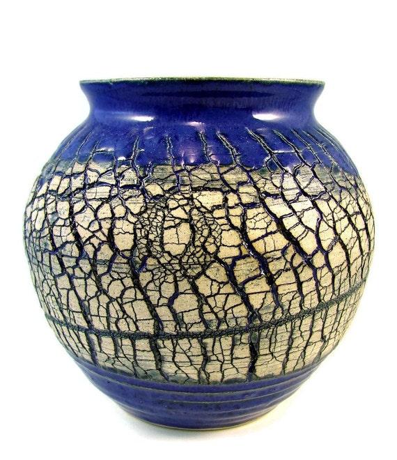 Crackled Art Vase / Ha...