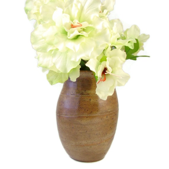 Classic Stoneware Vase - Spring Bouquet - Handmade Wheel Thrown Ceramic Clay Pottery