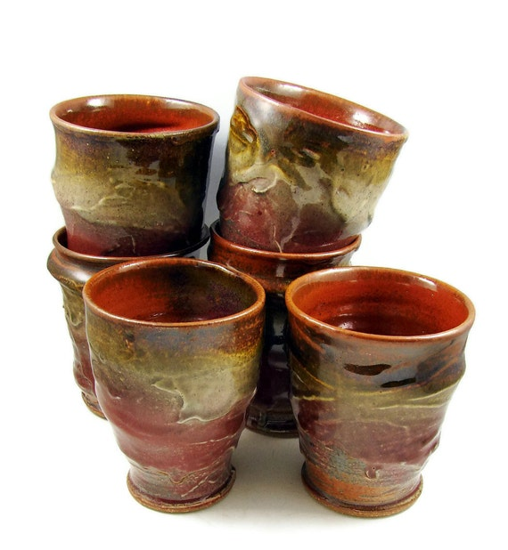 Stoneware Clay Tumbler - Handmade Art Mug - Wheel Thrown Ceramic Tumbler - Pottery Cup - Ships Today