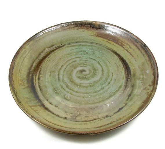 Large Stoneware Platter / Wheel Thrown Ceramic Clay Pottery