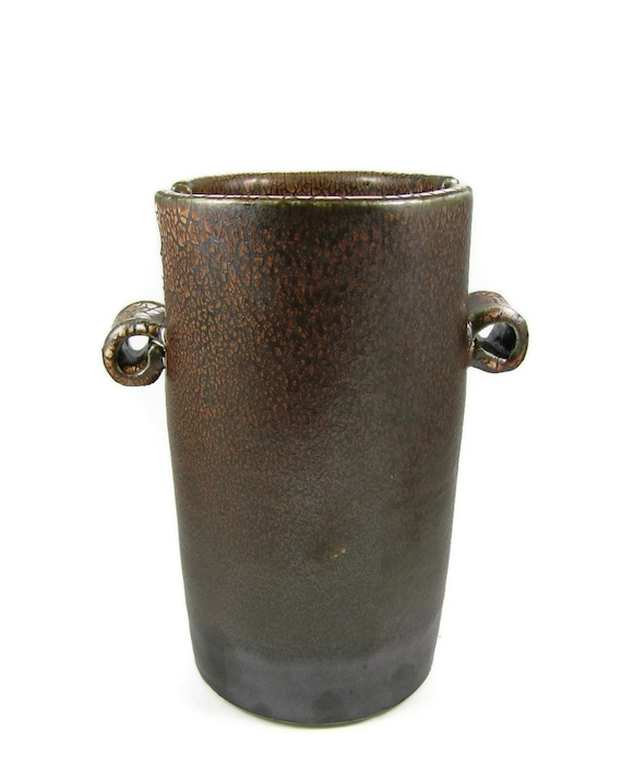 Modern Vase - Large Coffee Brown Stoneware Vase / Ready to Ship Today / Handmade  Wheel Thrown Ceramic Clay Pottery