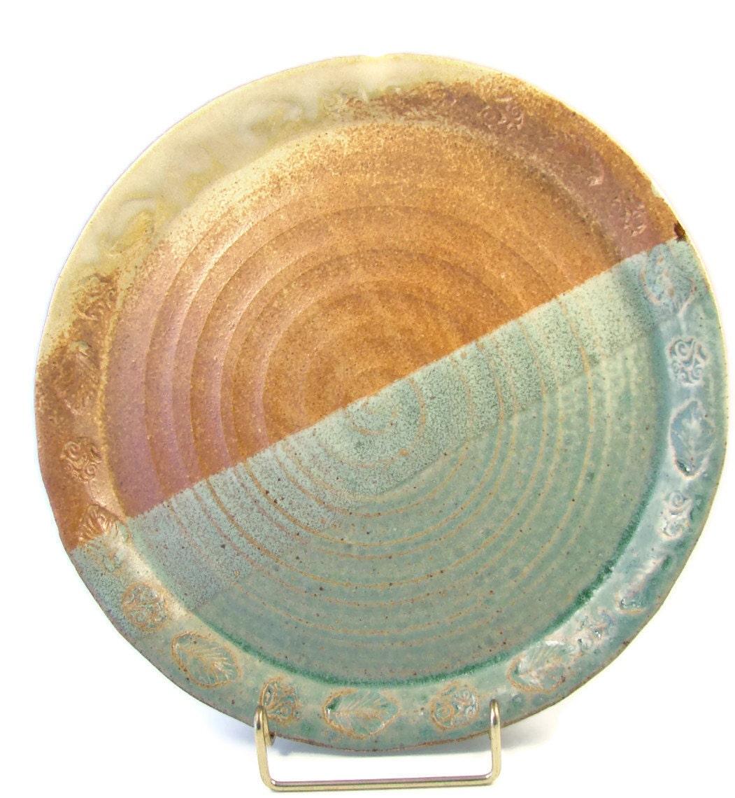 Ceramic Dinner Plate Stoneware Dinnerware Handmade Dish
