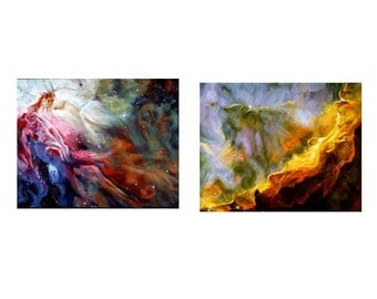 The Orion and Swan Nebulas A Pair of Paintings