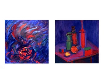 Mixed Emotions And Hue Go Your Way A Paired Set Of paintings