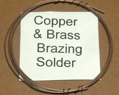 Solder for Copper and Brass  a  brazing solder that makes a light copper color joint