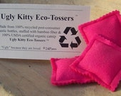 Ugly Kitty Eco-Tossers - Punk Pink - Organic Catnip Toy
