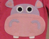 Hippo Applique Tee - size 2T