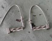 Sterling Silver Twist Hoop