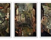 Surreal Dreamscape Triptych Print - 11x17