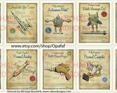 10-pack Large Retro Art Prints - 11x14 - vintage style