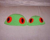 Custom Crocheted Frog Hat for Your Little One