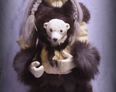 Kunik, the orphan polar bear.............ooak art doll