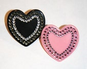 Super Sparkle Hearts Cocktail Ring Adjustable Accessory by Cutie Dynamite Kawaii