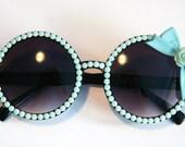 Mint To Be Circle Bow Sunglasses Accessory by Cutie Dynamite Sunnies Cute Kawaii Lolita Retro