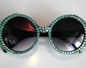 Glamorous Mod Sparkling Black Sunglasses Accessory Sunnies Cute Kawaii Lolita Retro by Cutie Dynamite