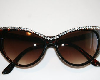Cutie Cat Eye Sparkling Tortoise  Sunglasses Accessory by Cutie Dynamite Sunnies Cute Kawaii Lolita Retro