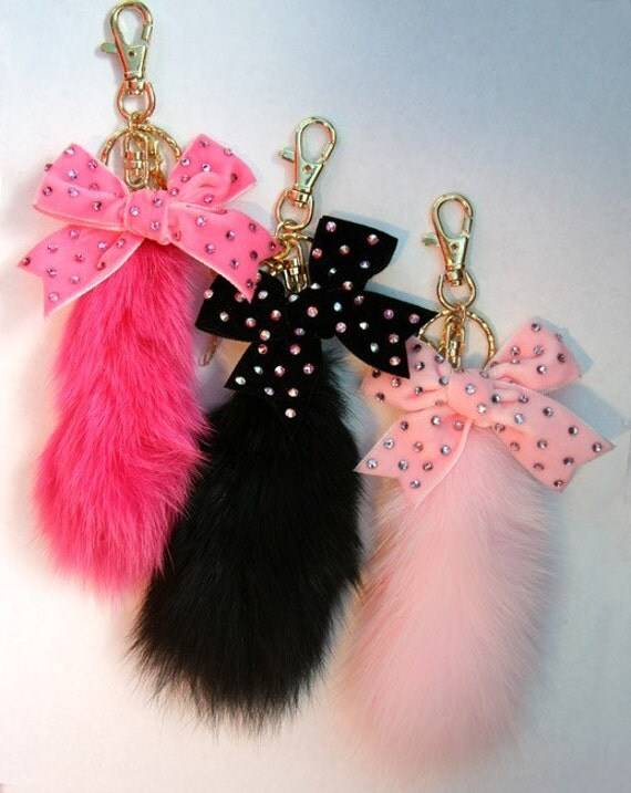 503b13f53 Faux Fur Tail Bag Charm