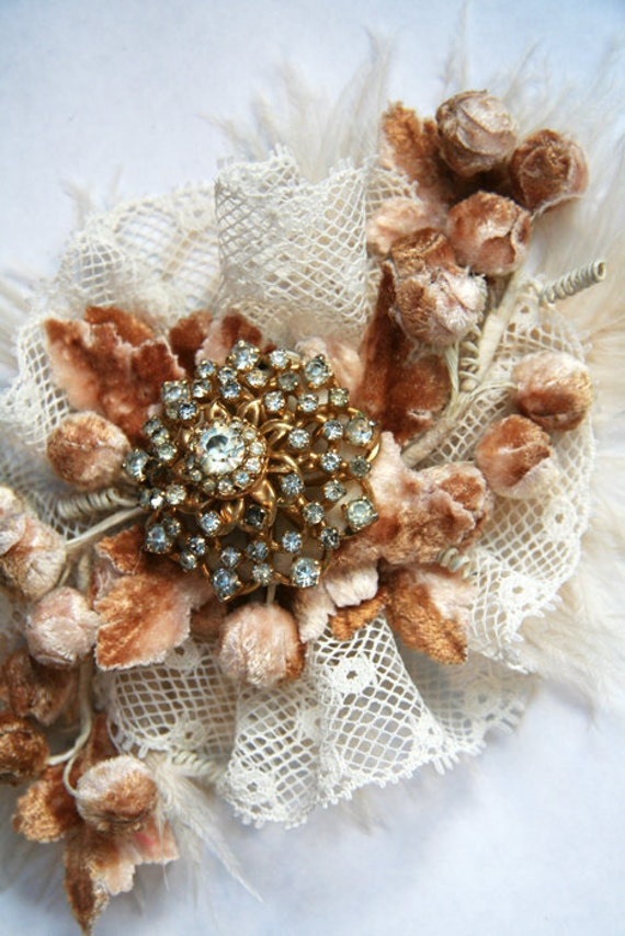 SUPER SALE Delicate Berries Fall inspired Flapper Headband Accessory by Cutie Dynamite