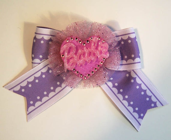Sweet Dolly Lavender Hair Bow Clip Accessory by Cutie Dynamite Lolita Party Pinup Alice Kawaii Cute