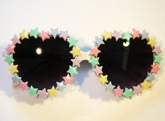 Starry Eyed Heart Sunglasses Accessory by Cutie Dynamite Sunnies Cute Kawaii Lolita Retro