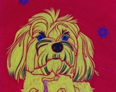 Designer Doggie - Dog Pop Art Giclee Print by dogpopart on etsy