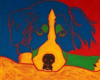 Berner - Dog Pop Art -  Giclee Print by dogpopart on etsy