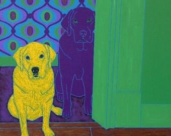 Some of My Favorite People - Dog Pop Art - Labrador Art - Labrador Print - by dogpopart