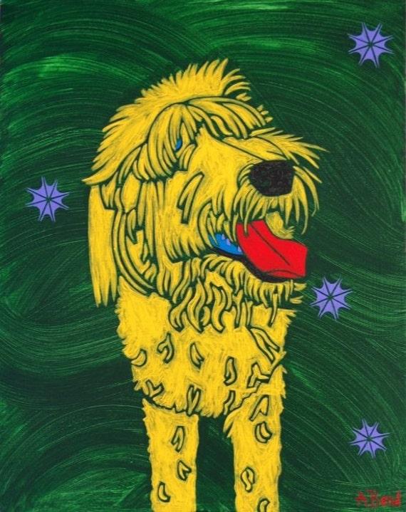 Shagadelic - Labradoodle Art Print - Dog Art - Modern - by dogpopart