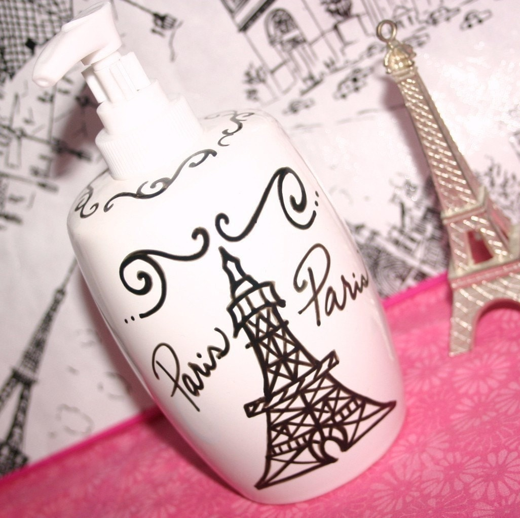 Paris decor themed bathroom accessories by parischicboutique for French themed bathroom accessories